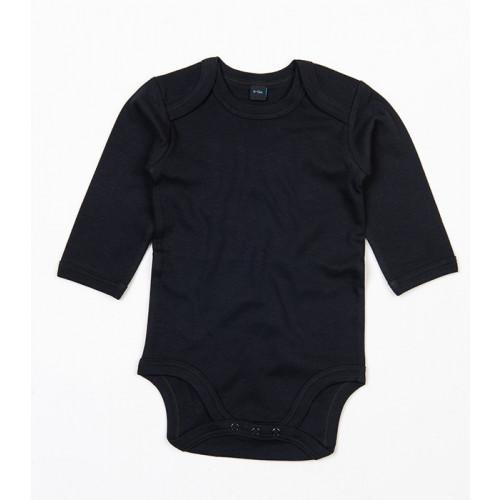 Babybugz Organic Baby Long Sleeve Bodysuit Black