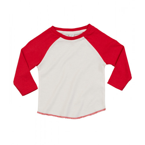 Mantis Baby Baseball T Washed White/Warm Red