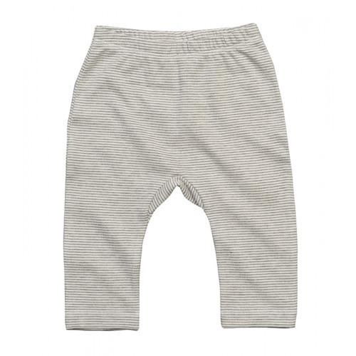 Babybugz Baby Striped Leggings White/Heather Grey Melange