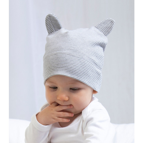Babybugz Little hat with ears White/Nautical Navy