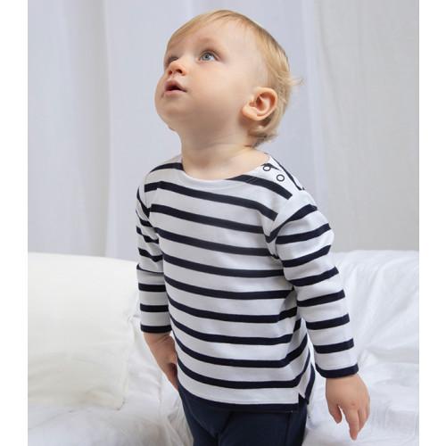 Babybugz Baby Breton Top White/Navy