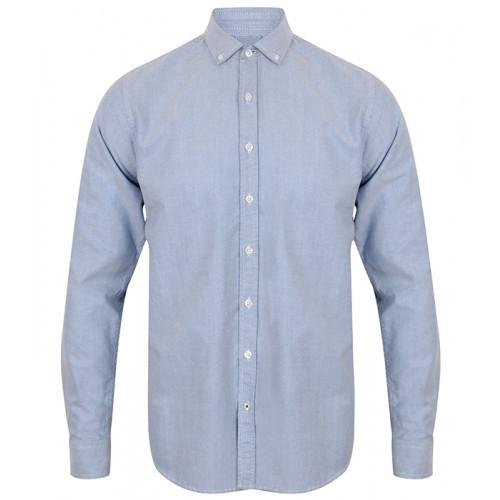 Front Row Men's Supersoft Casual Shirt Light Blue