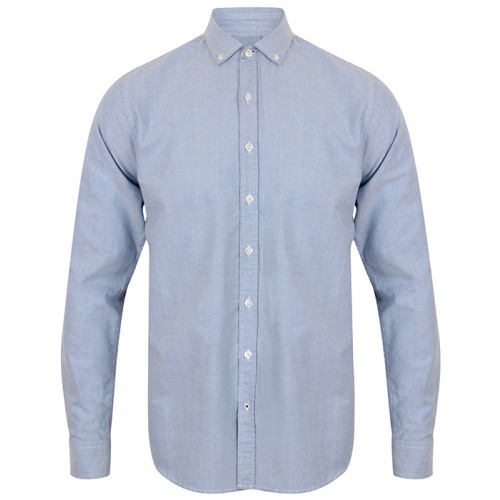 Front Row Men's Supersoft Casual Shirt Light Blue