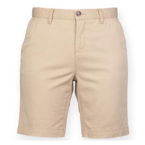 Front Row Ladies' Stretch Chino Shorts (Tag Free) Stone