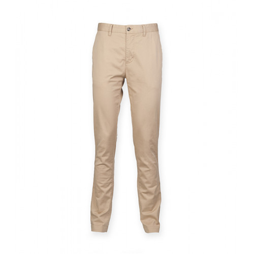 Front Row Men's Stretch Chinos Tag Free Stone