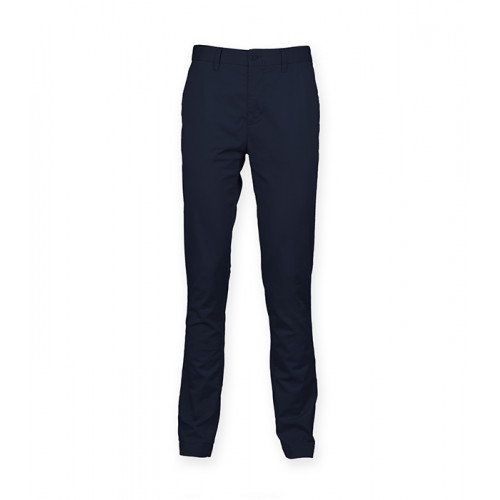 Front Row Men's Stretch Chinos Tag Free Navy