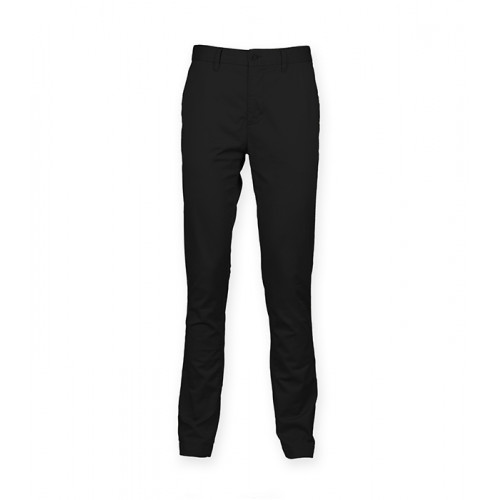 Front Row Men's Stretch Chinos Tag Free Black