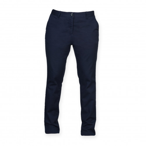 Front Row Ladies' Stretch Chinos Tag Free Navy