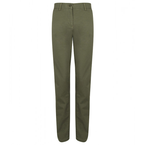 Front Row Ladies' Stretch Chinos Tag Free Khaki