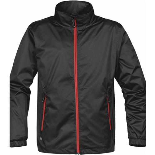 Stormtech MEN'S AXIS LIGHTWEIGHT SHELL Black/Sport Red