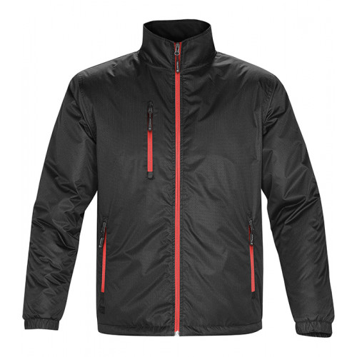 Stormtech M'S AXIS Jacket Black Sport Red