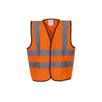 YOKO Hi Vis Children 2 B&B Waistcoat Orange