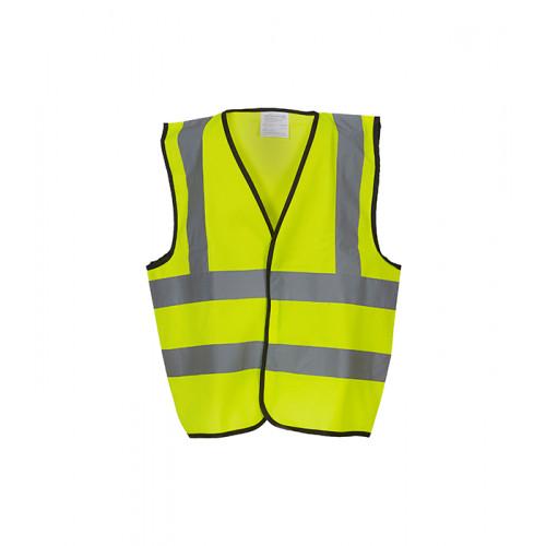 YOKO Hi Vis Children 2 B&B Waistcoat Hi Vis Yellow