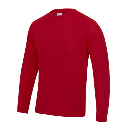Just Cool Long Sleeve Cool T Fire Red