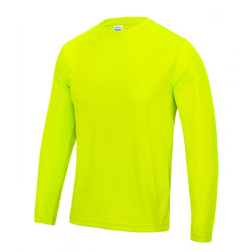 Just Cool Long Sleeve Cool T Electric Yellow