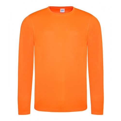 Just Cool Long Sleeve Cool T Electric Orange