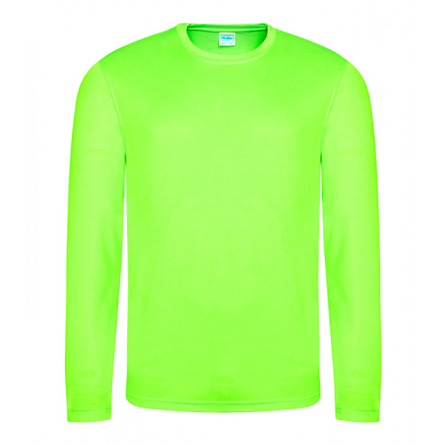 Just Cool Long Sleeve Cool T Electric Green