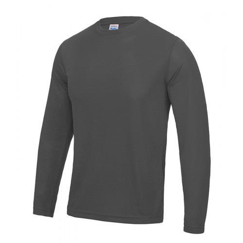 Just Cool Long Sleeve Cool T Charcoal
