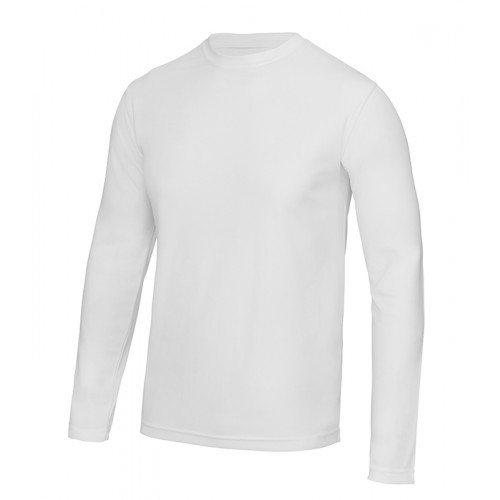 Just Cool Long Sleeve Cool T Artic White