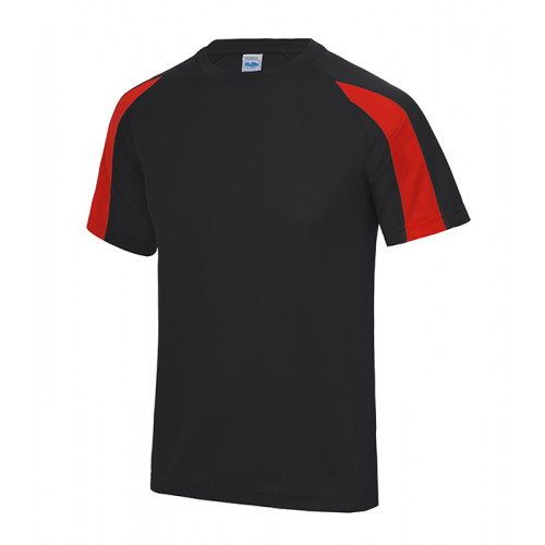Just Cool Contrast Cool T Jet Black/Fire Red