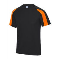 Just Cool Contrast Cool T Jet Black/Electric Orange