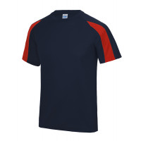Just Cool Contrast Cool T French Navy/Fire Red