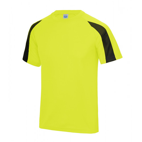 Just Cool Contrast Cool T Electric Yellow/Jet Black