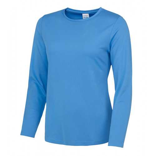 Just Cool Girlie Long Sleeve Cool T Sapphire Blue