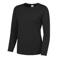 Just Cool Girlie Long Sleeve Cool T Jet Black