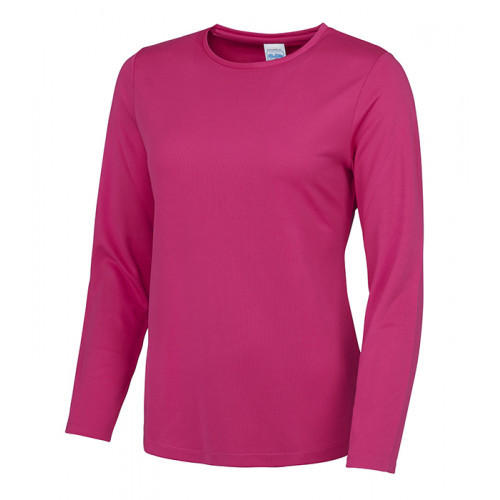 Just Cool Girlie Long Sleeve Cool T Hot Pink