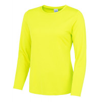 Just Cool Girlie Long Sleeve Cool T Electric Yellow