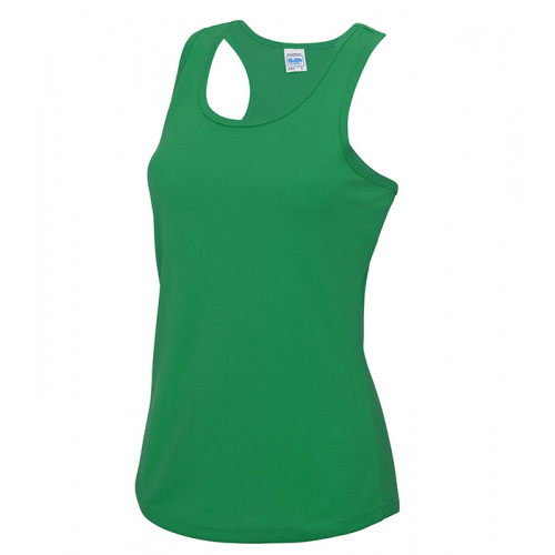 Just Cool Girlie Cool Vest Kelly Green