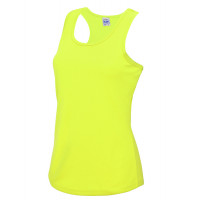 Just Cool Girlie Cool Vest Electric Yellow
