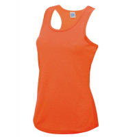 Just Cool Girlie Cool Vest Electric Orange