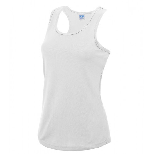 Just Cool Girlie Cool Vest Artic White