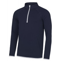 Just Cool Men's Cool 1/2 Zip Sweat French Navy/Arctic White