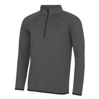 Just Cool Men's Cool 1/2 Zip Sweat Charcoal/Jet Black