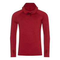Just Cool Men´s Cool Cowl Neck Red Melange