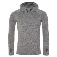 Just Cool Men´s Cool Cowl Neck Grey Melange