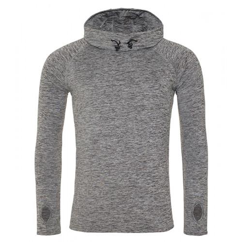 Just Cool Men´s Cool Cowl Neck Grey Melange