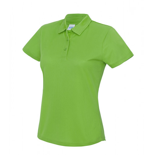 Just Cool Girlie Cool Polo Lime Green