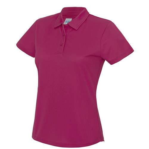 Just Cool Girlie Cool Polo Hot Pink