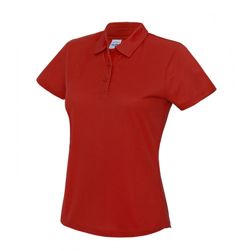 Just Cool Girlie Cool Polo Fire Red