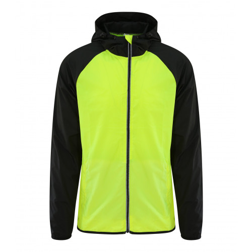 Just Cool Cool Contrast Windshield Jacket Electric Yellow/Jet Black