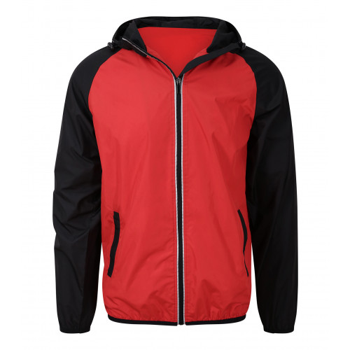 Just Cool Cool Contrast Windshield Jacket Fire Red/Jet Black