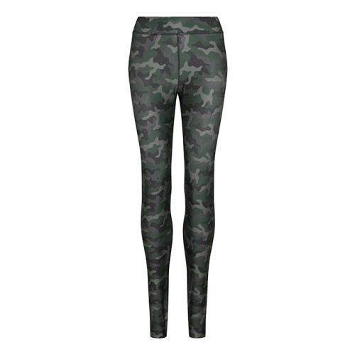 Just Cool Girlie Cool Printed Legging Fashion Green Camo