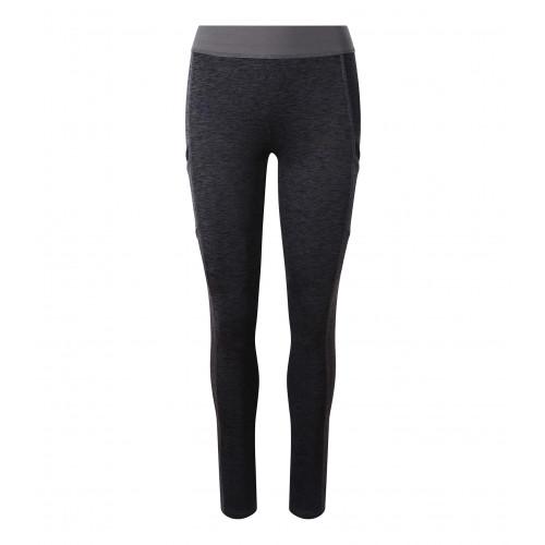 Just Cool Girlie Cool Dynamic Leggings BlackSlateMelange/JetBlack