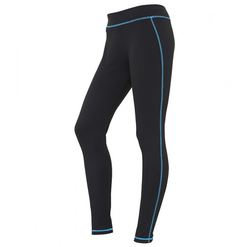 Just Cool Girlie Cool Athletic Pant Jet Black/Sapphire Blue