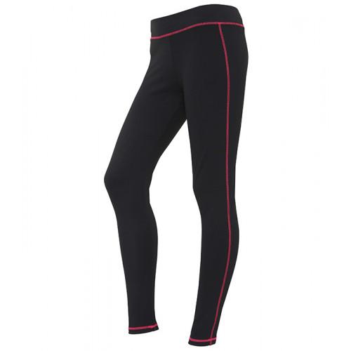 Just Cool Girlie Cool Athletic Pant Jet Black/Hot Pink