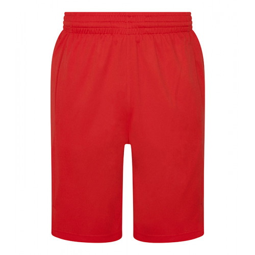 Just Cool Cool Panel Shorts Fire Red